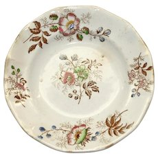 Antique Butter Pat with Flower Sprigs