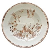 Aesthetic 19th Century Bowl by G. L. Ashworth & Bros., Trentham Pattern