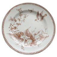 Aesthetic 1862-1890  Plate by G. L. Ashworth & Bros, Trentham Pattern, 9 3/8 Inches