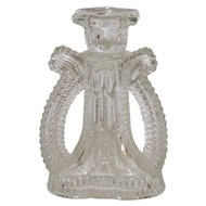 Three-Sided Glass Candlestick
