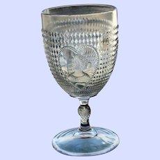 """""""Valentine"""" or """"Trilby"""" Goblet, U. S. Glass Company, EAPG, 1895"""