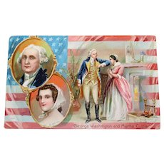 "c.1910 Tuck's Post Card ""George Washington's Birthday"" No 124"