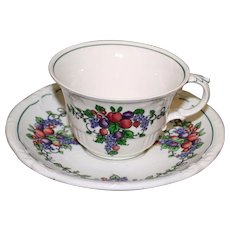 """Wedgwood Cup and Saucer in California """"Earth"""" Pattern"""