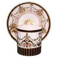 Extraordinary Antique Wedgwood Cup and Saucer