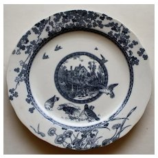 Woodland Transferware Plate by Brownfield & Sons