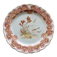 Antique 1888 Royal Worcester Fish Plate with Seaweed