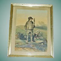 Early 19th Century  French Lithograph by Hippolyte Lalaisse, Charpentier Book Illustration