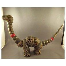 1920's Jointed Wood Twistum Dinosaur Poseable Toy