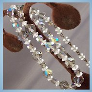 Vintage Beautiful AB Glass Bead Crystal Necklace