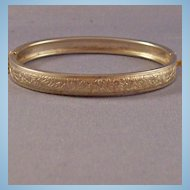 Vintage Baby's Child's Hinged Bangle Bracelet