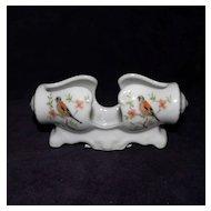 Porcelain item with Bird design Knife rest or other