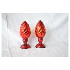 Old Christmas standing red glass decorations ?