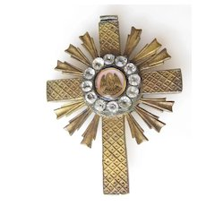 Cross Pendant Paste Stones