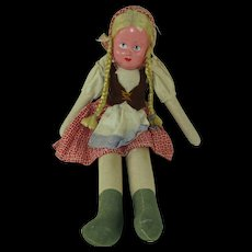 Vintage Doll with Composite Head and Cloth Body  - HELP!