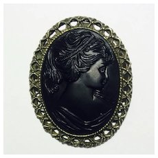 Mourning Cameo Brooch/Pin
