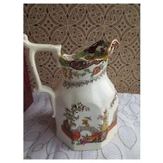 Porcelain Pitcher Asian hand painted design