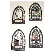 Vintage Wrought Iron, Hand-Painted Wall Hangings: Folk Art in English & German