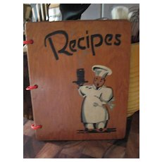 Hardcover Wooden Recipes Book * * Black ~ Negro Chef