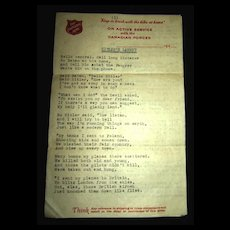 Hitler's Lament : A Poem Written for Hitler circa 1940's