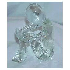 Elegant Human Form Blown Glass Figurine-Signed