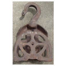 """Antique Iron Pulley """"PAT APPROVED"""""""