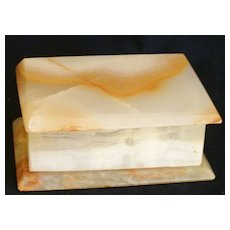 Stone Box for Vanity or Desk Top