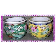 Vintage pair of Asian porcelain vases-signed