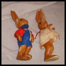 2 Rubber Bunnies