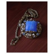 Vintage Ornate Filigree and Gemstone Pendant