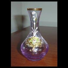 Miniature Enamelled and Gilt Glass Vase