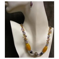 Marble Golden Mexican Fire Agate and Bali Beads Take Center Stage