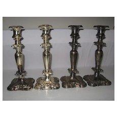 Silver candle holders sticks, tea pots, creamers sugars etc ???