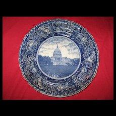 Washington D.C. Capitol building flow blue Staffordshire plate???????