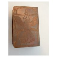 Hand Etched Copper What-zit