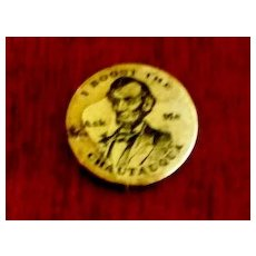 Abraham Lincoln Button