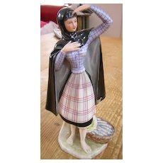 Portugal Fish Monger Woman Porcelain Figurine