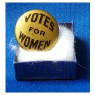 """Bastian Bros NY """"Votes for Women""""  Suffrage Pin"""