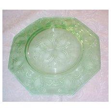 Unknown Maker Green Depression Plate