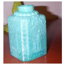 Pressed Glass Cologne Bottle