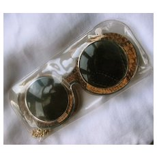 Groovy 1960  Fashion Sunglasses  with  Dangling  Huge Earrings One size fits all!