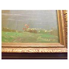 Oil Painting Impressionist Unidentified Signature