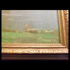 Oil Painting Impressionist Unidentified Signature