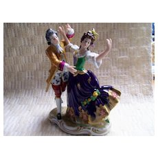 German porcelain figurine -woman and man dancing