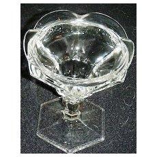 Glass sherberts with ruffled rim