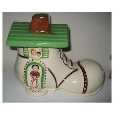 Vintage Shoe House Cookie Jar
