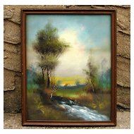 1800's Hudson Valley DeWitt Clinton Boutelle Oil/Pastel Painting