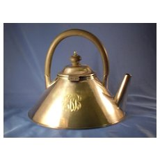 Nouveau Silverplate Monogrammed Tea Pot