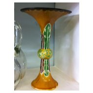 Chinese Sancai Glazed Gu Form Vase