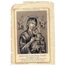 19th Century - Religious Litany  Notre Dame Du Perpetual Secours