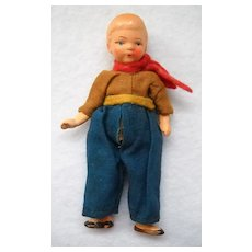 Miniature 4 inch Boy Doll from Germany